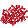 Miracle Beads Round 4mm , Red