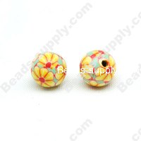Polyclay/Fimo Round Beads 8mm