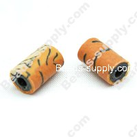 Polyclay/Fimo Tube Beads 7x12mm