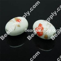 Porcelain Oval Beads 13x18 mm