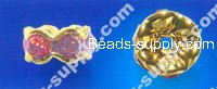 Strass Roundel Beads 6mm