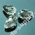 Translucent Acrylic Teardrop Beads 10x17mm