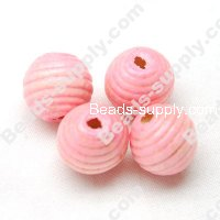 Wood Round Bead 14mm