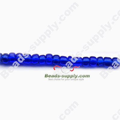 12/0 Glass Seed Beads,Transparent Colours - Click Image to Close