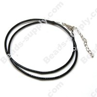 2.0mm Waxy cord necklace , Black