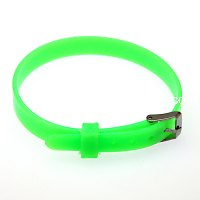8mm DIY silicone bracelet,fits for 8mm slide charms,green