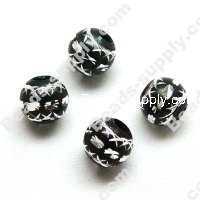 Aluminium Round Beads 12mm ,Black