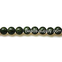 Bead ,Dyed Fossil beads ,round 8mm , olivine