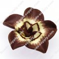 Beads,handmade fimo flower beads,polymer clay 20mm flower,coffee color