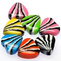 Beads,stripes damasks resin heart beads ,10x21mm heart beads,assorted color