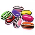 Beads,stripes damasks resin oval beads ,17x28mm ,assorted color