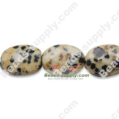Blue Spot Stone 10x14mm Oval Shape Beads - Click Image to Close