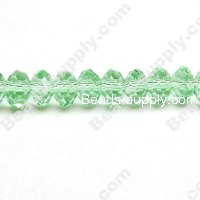 Briolette Glass Beads 6mm*8mm,LT Green