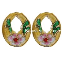 Cloisonne Circle Beads 16x20 mm
