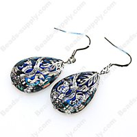 Earring,mirage beads with stainless steel fishhook, sold 5 pairs