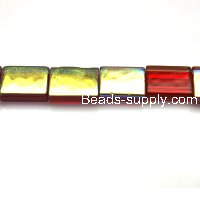 Glass Beads Rectangle Shape 9x12 mm