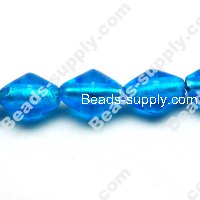 Glass Silver Foiled Bicone Beads 20mm
