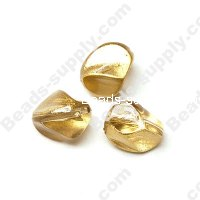 Gold Painted Faced Beads 17mm