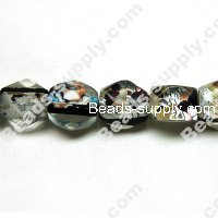 Silver Foiled Millefiori Beads 15x18mm