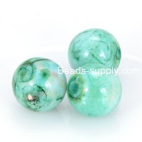 10mm round Spray-painted acrylic beads,green color