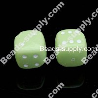 Acrylic Die Beads 12x12mm