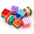 Bead, Resin, Assorted Color, Square 10*10 MM