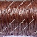 Beading wire,Korea waxy cord,24 gauges,brown