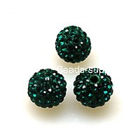 Beads,Pave Polyclay Round Beads 8mm , Emerald