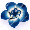 Beads,handmade fimo flower beads,polymer clay 20mm flower,blue color