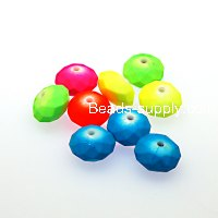 Beads,random mixed satin Beads,rubberized 5x8mm rondelle beads,mixed color,sold 2450 pieces per pkg