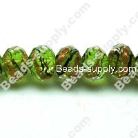 Briolette Lampwork Beads 6*8mm,Green