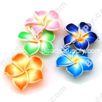Fimo Flower Beads 30mm,Assorted