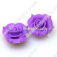 Fimo Flower Beads25mm,Voilet