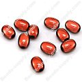 Miracle Beads Oval / Rice 8*11mm , Lt Coffee