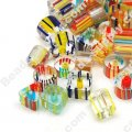 Bead mix, cane glass, assorted size/shape. Sold per pkg of 50g